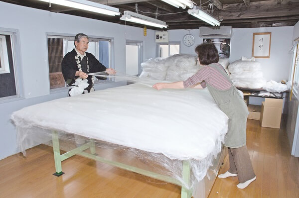 真綿加工工程(手引き)