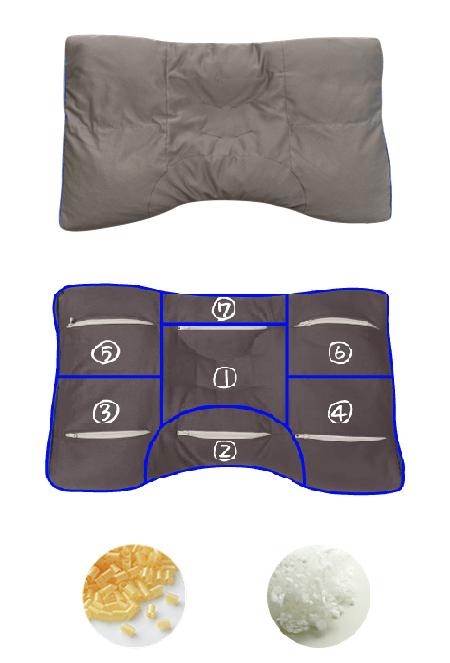 半ざむオリジナル・ミニパイプ枕