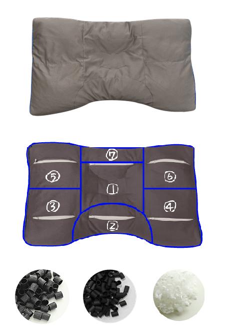 半ざむオリジナル・備長炭パイプ枕