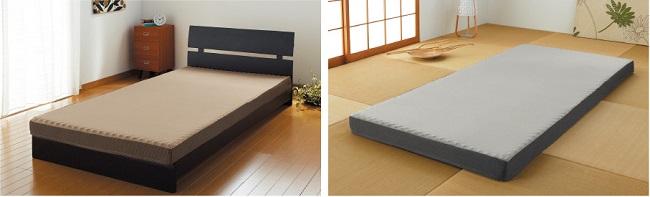 ラクラスタンダードモデルはベッドでもフロア敷でも!